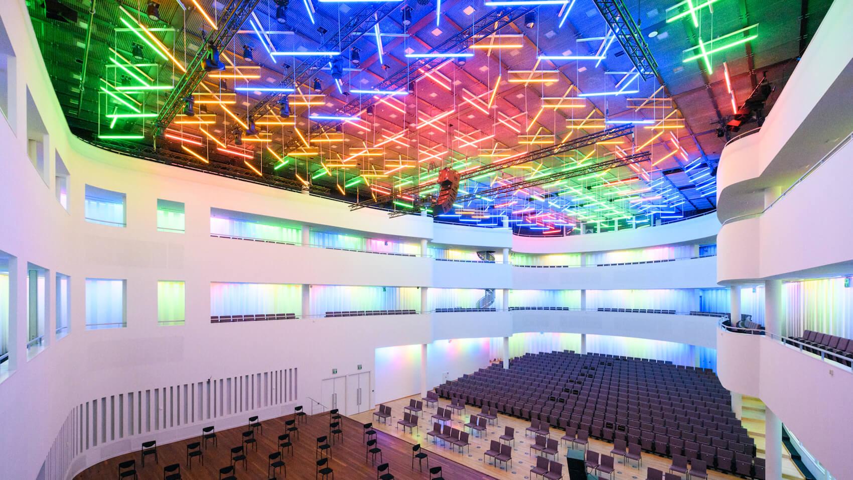Lichtkunstwerk Concertzaal